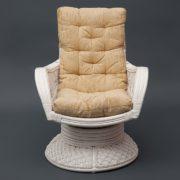 Кресло-качалка из ротанга «Андреа релакс медиум» белое