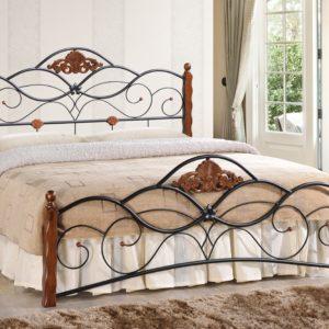 Кровать кованая «Канцона» (Canzona) + основание черная