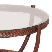 Стол кофейный из ротанга «Андреа» стекло