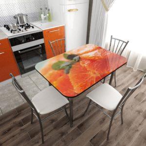 Стол фотопечать стекло Апельсин с разборной опорой NEW