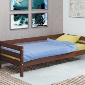 ГЛОРИЯ кровать одинарная детская цвет орех