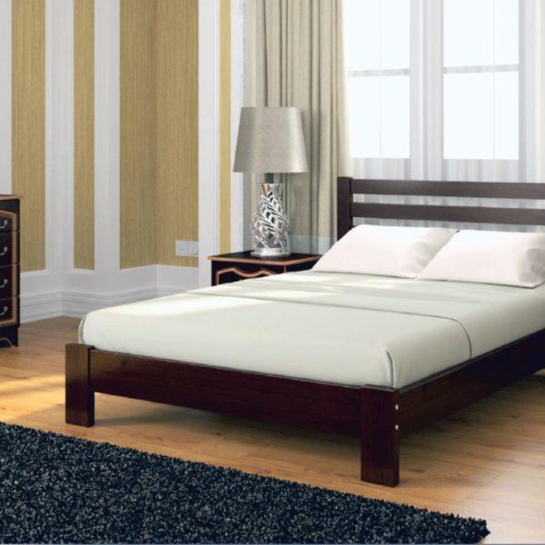 Кровать Вероника темный орех