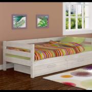 Кровать детская Глория с ящиками (дуб светлый)