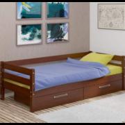 Кровать детская Глория с ящиками (орех)