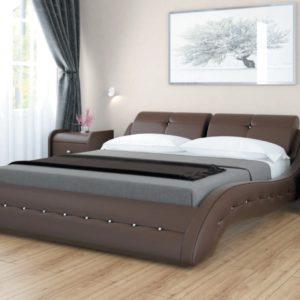 Кровать из экокожи Аврора