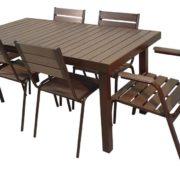 Стол для улицы Ривьера-3 со стульями