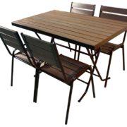 Стол для улицы складной Ривьера-1-1200 со стульями