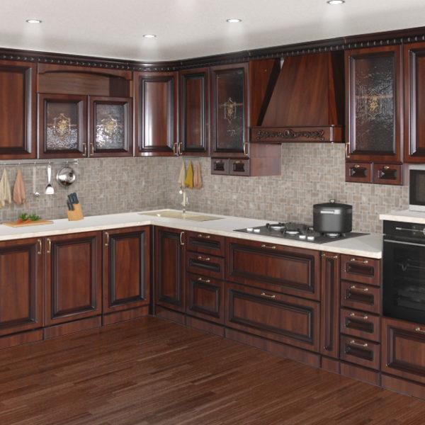 Кухня «Деметра» NEW радиусная угловая L2220х3440