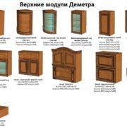 Кухня «Деметра» модули верх