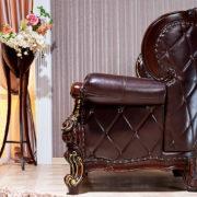 Набор мягкой мебели «ИМПЕРИАЛ» орех кресло сбоку
