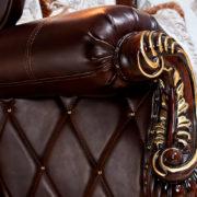Набор мягкой мебели «ИМПЕРИАЛ» орех подлокотник кресла