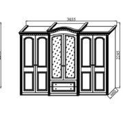 Спальня модульная «Деметра» NEW шкафы
