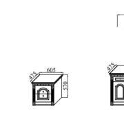 Спальня модульная «Деметра» NEW т.столы тумбочки