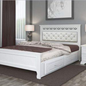 Кровать Грация белый с ящиками
