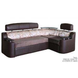 Рейн диван-кровать угловой Erika 02+Runo 727, к.з Kanzas 10, Венге