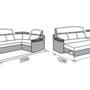 Рейн диван-кровать угловой размеры