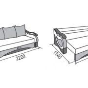 София диван-кровать 3-х местный размеры