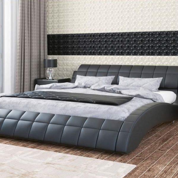 МЭРИ кровать двойная из экокожи