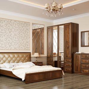 Мебель для спальни Габриэлла орех кальяри дуб коньяк