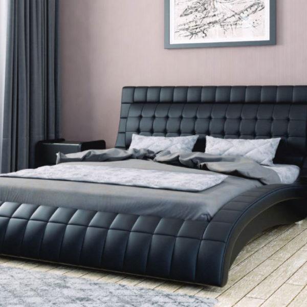 ВИРДЖИНИЯ кровать двойная из экокожи