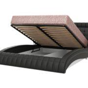 ВИРДЖИНИЯ кровать двойная из экокожи подъемный механизм