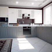 Кухня Парма снег-сандал угловая