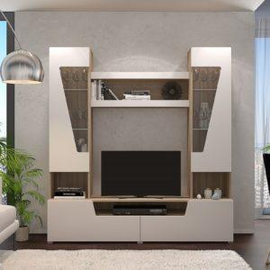 Гостиная Анталия 2 Сонома - Белый Софт