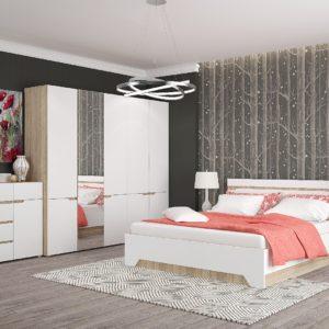 Спальня Анталия Сонома - Белый Софт