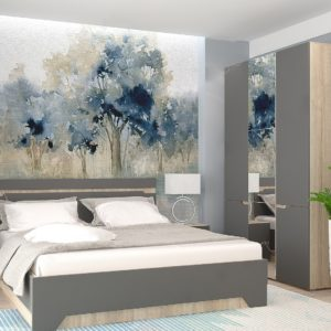 Спальня Анталия Сонома - Графит софт