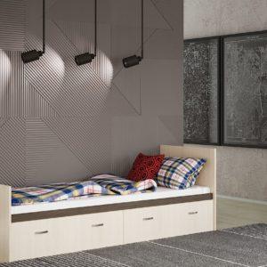 Кровать Ронда 0.8 с ящиками