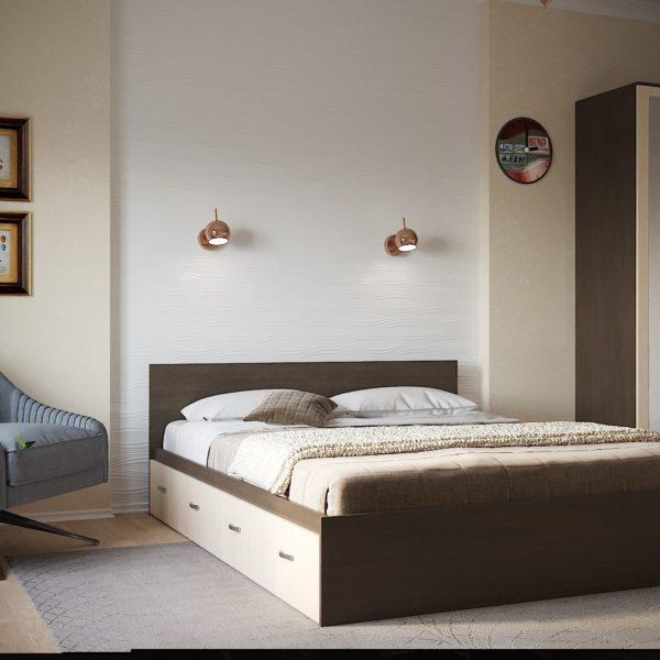 Кровать Ронда 1.6 с ящиками