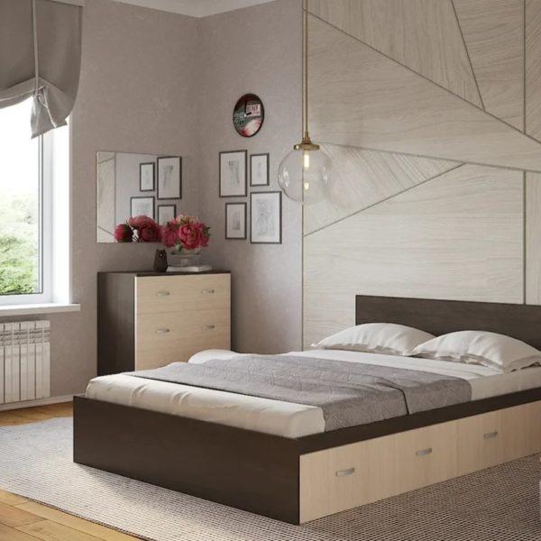 Кровать Ронда двуспальная с ящиками