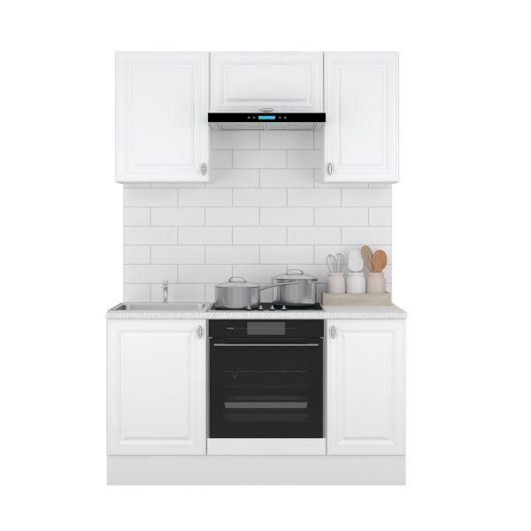 Кухня Ева 1,5м Белый Софт