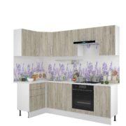 Кухня Европа 1.2х2,4 м Серый Крафт