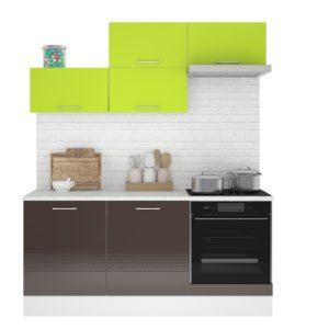 Кухня Люкс 1.8м Лайм-Шоколад