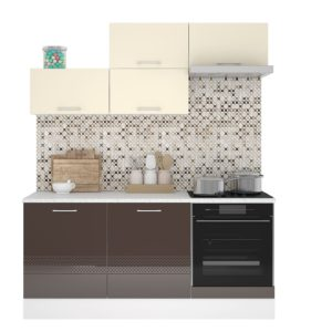 Кухня Люкс 1.8м Ваниль-Шоколад