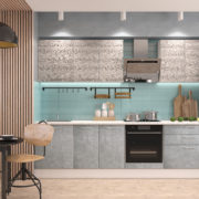 Кухня Полонез 2,8м Ясень Рикон Камень Арья