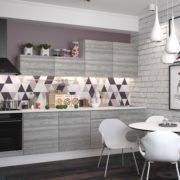 Кухня Полонез 3,0м Ясень Рикон