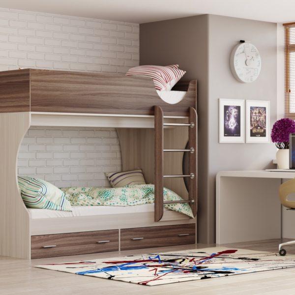 Кровать двухъярусная Адель - Д2 Ясень