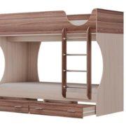 Кровать двухъярусная Адель - Д2 Яссень с ящиками