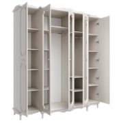 Шкаф для одежды 06.95 5-и дверный Вудлайн кремовый-Сандал белый наполнение