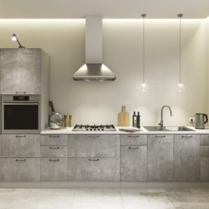 Модульный кухонный гарнитур Лофт 4000 бетон светлый