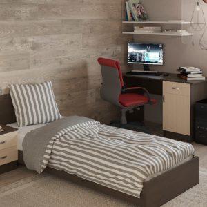 Спальня Ронда с односпальной кроватью и столом