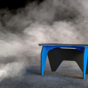 Геймерский компьютерный стол БАЗИС-2 Черный, Светло - синий