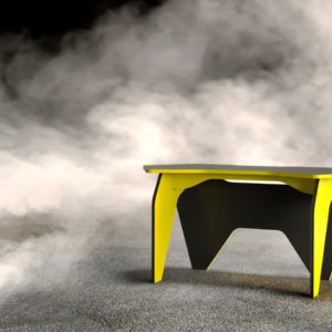 Геймерский компьютерный стол БАЗИС-2 Черный, Желтый