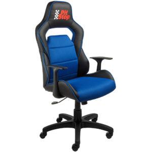 Кресло для геймеров AV 140 черное-синее