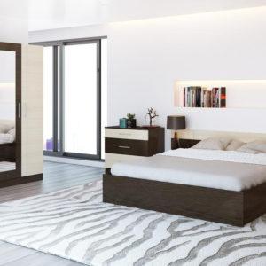 Спальня Уют Венге-Беленый дуб