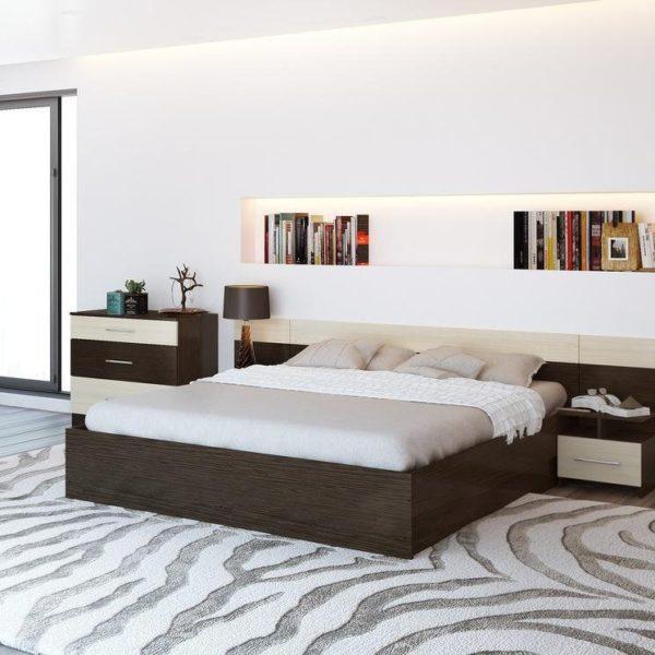 Спальня Уют Венге-Дуб без шкафа