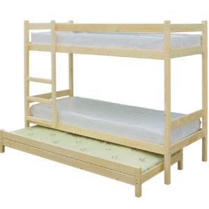 Двухъярусная кровать с выдвижным спальным местом 3 в 1