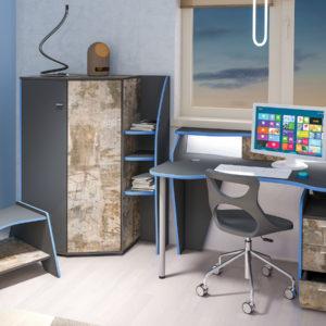 Модульная детская (молодёжная) мебель Индиго комплектация 2